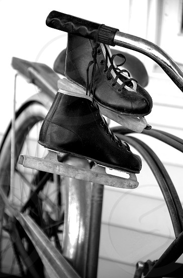 Youth Ice Skates in an Amish Community photo