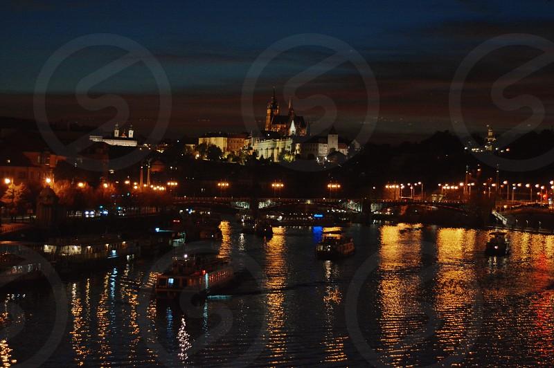 Prague castle night  photo