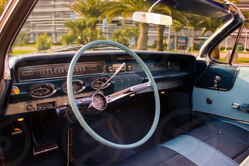 Vintage car dashboard photo