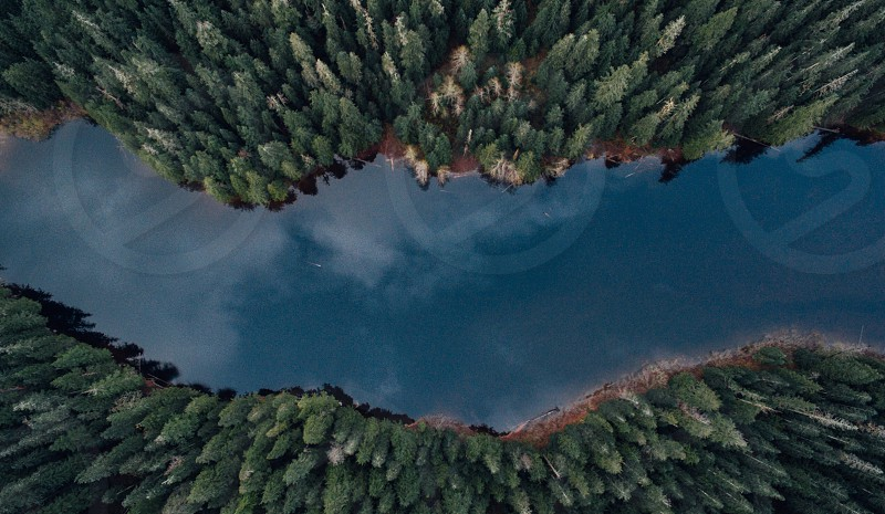 Barclay Lake WA. From above photo
