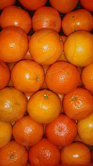 oranges stacked photo