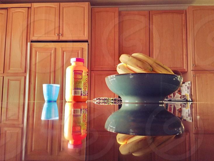 still lifemorning lightblue cup orange container photo