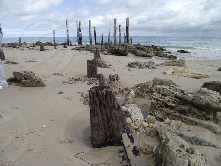 Jetty relic. Port Willunga. South Australia. photo