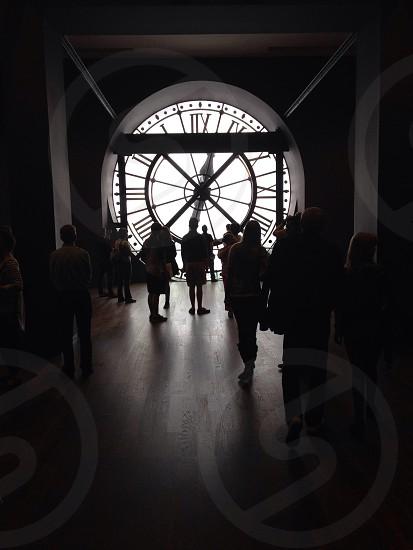Clock at Musee d'Orsay Paris photo