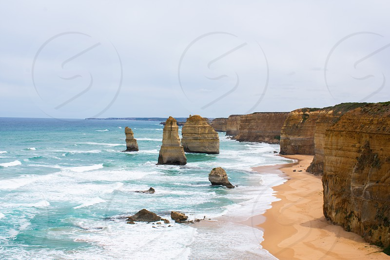 Stunning views of the 12 Apostles the greatest day trip in Melbourne. photo
