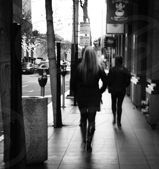 Walking on Market Street San Francisco photo