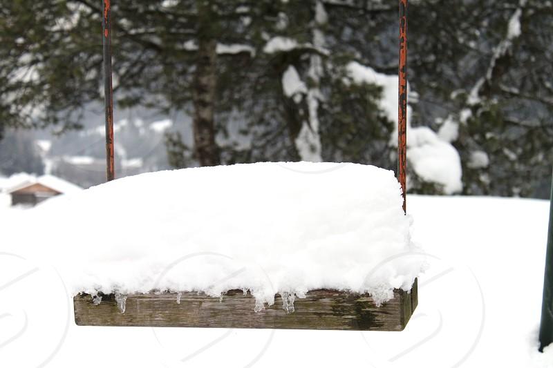 Winter swing photo