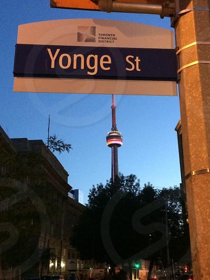 Yonge St. Toronto street signage photo
