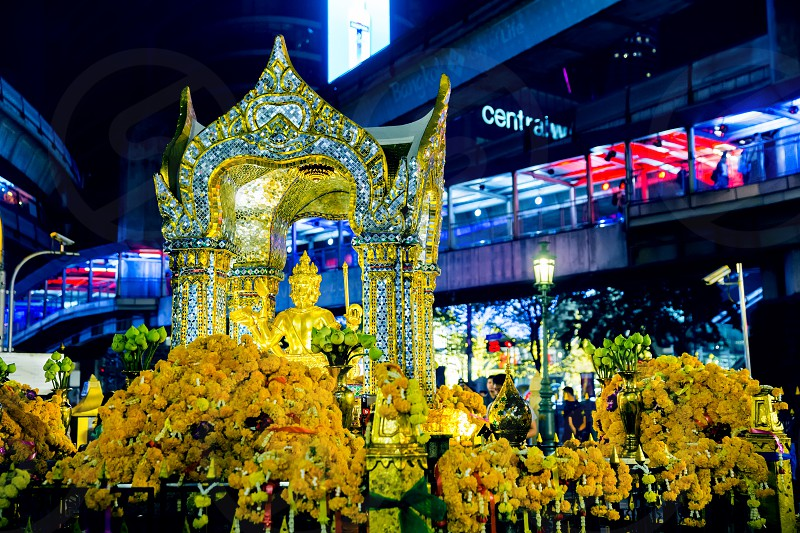 Erawan shrine at Ratchaprasong Junction photo