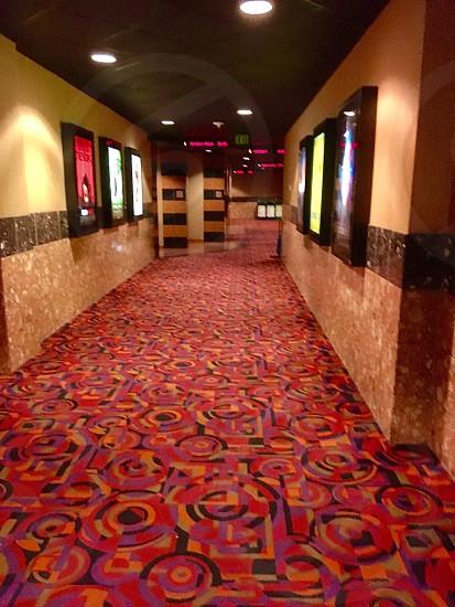 Corridor to movie theatres photo
