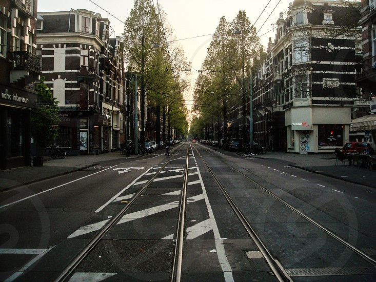 Random street in Amsterdam Netherlands photo