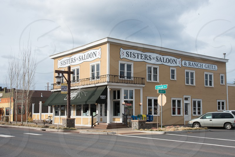 Sisters Saloon and Ranch Grill in downtown Sisters OR. photo