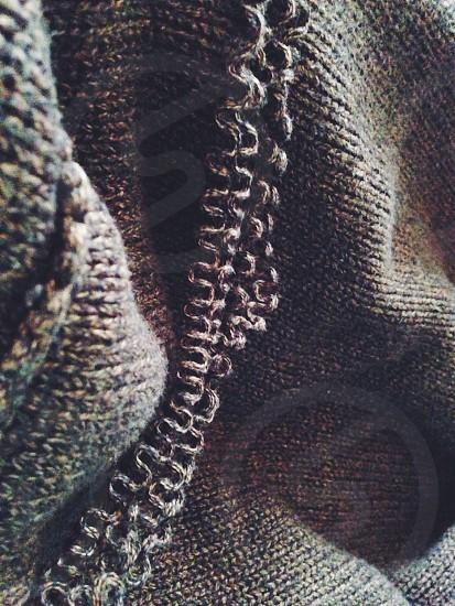 gray knit textile photo