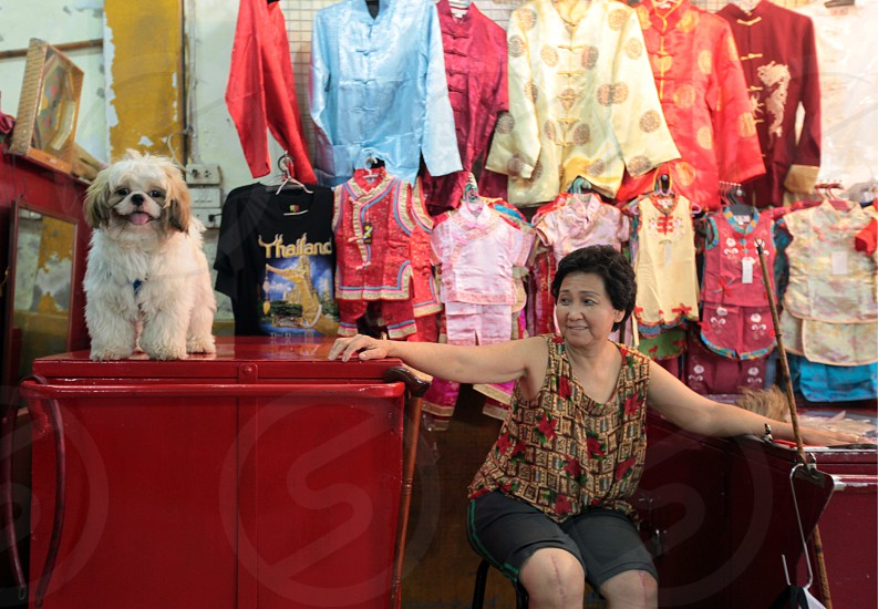 a shop in the China town in the city of Bangkok in Thailand in Suedostasien. photo