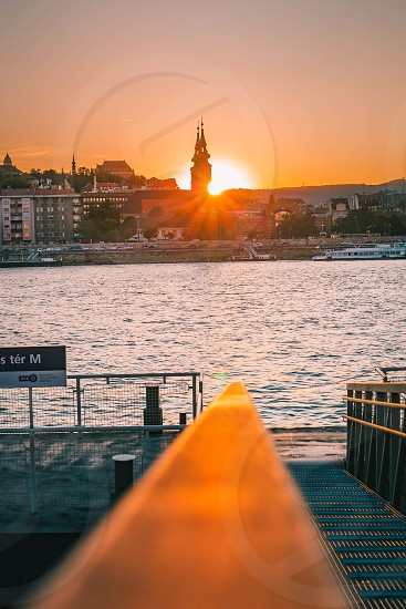 Sunset in Budapest photo