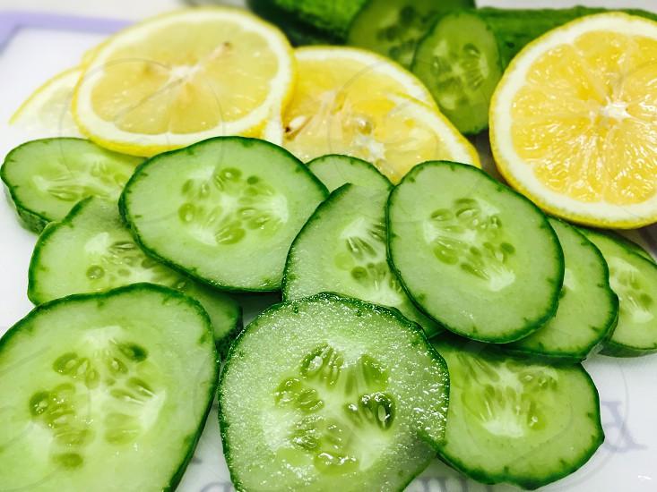 Lemon cucumber light color vegetables photo