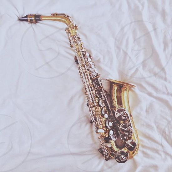 golden saxophone  photo