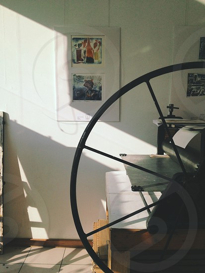 Old printing press photo