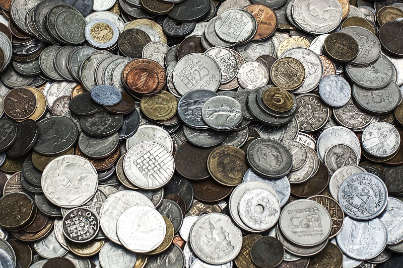coins metal shiny moneyportugues photo