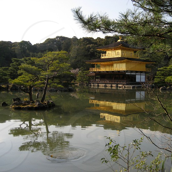 Osaka. Kinkakuji (Golden Pavilion) photo