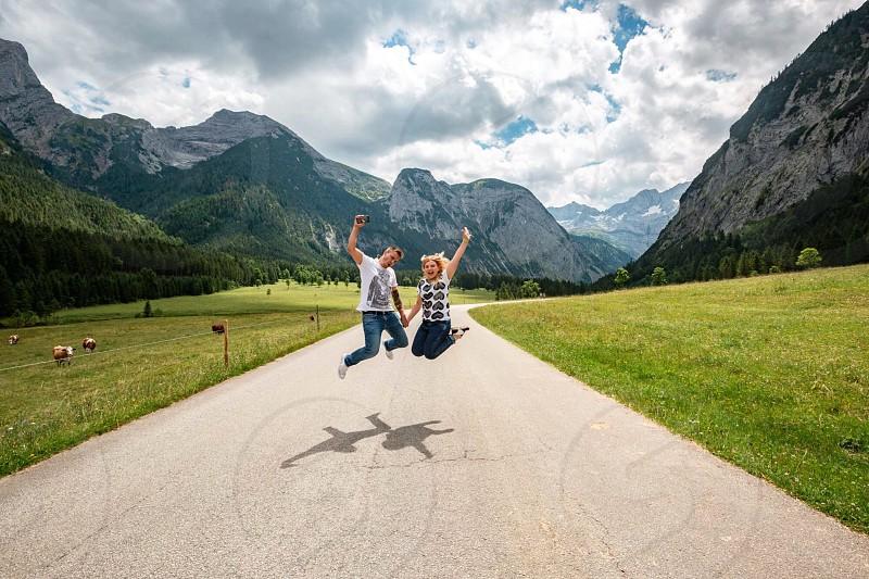 People smile wander Alps Alpen Austria Deutschland Bayern  photo