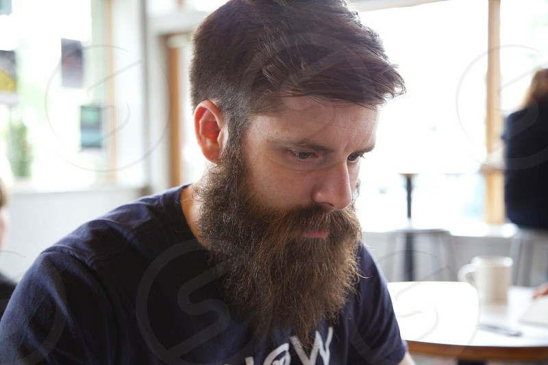 Beard at work. photo