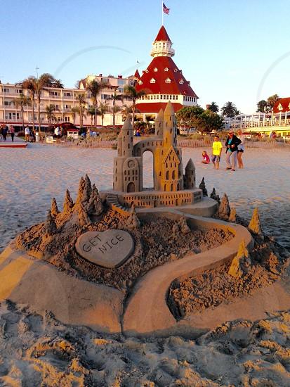 Sand castle beach summertime  photo