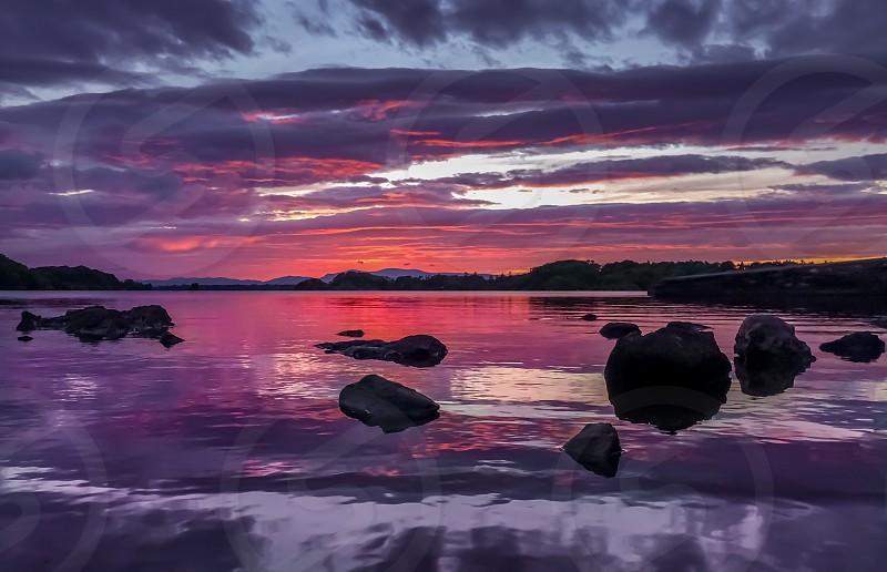 horizon and sunset view photo