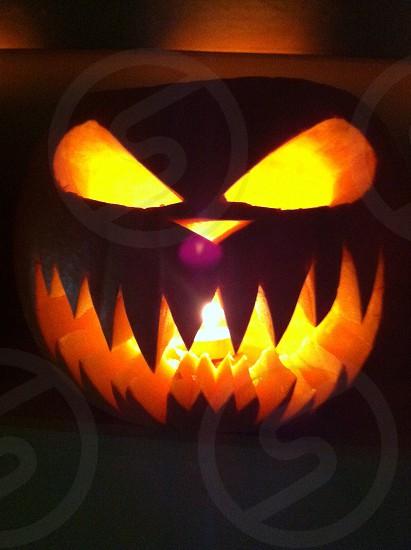 Halloween spooky pumpkin  photo