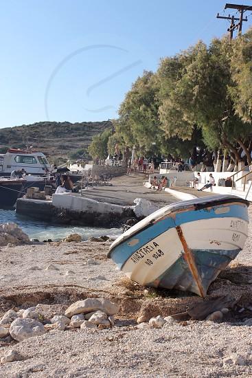 Zakinthos Greece Beach and boat photo