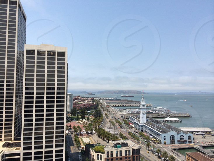 The view of The Ferry Building and Alcatraz San Francisco photo