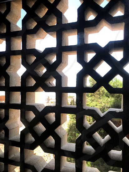 The architecture of the middle ages. Oriental ornaments and patterns on iron. Old town. Baku. Azerbaijan. photo