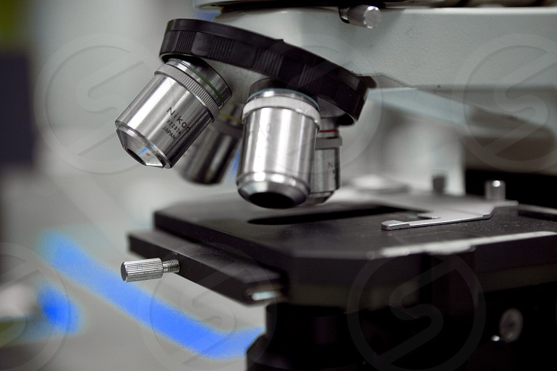 stainless steel microscope photo