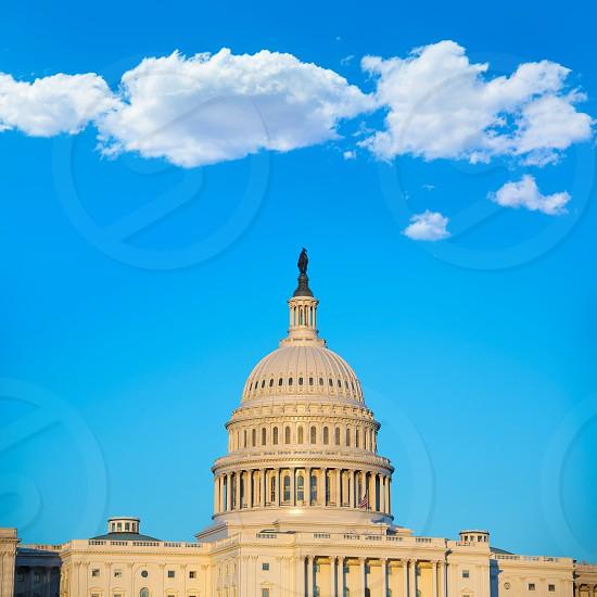Capitol building dome Washington DC USA US congress photo