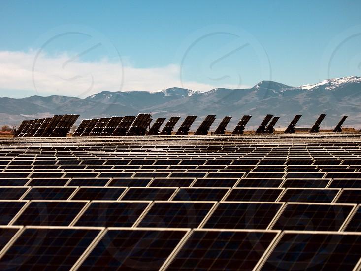 solar panels san luis valley colorado alternative energy electricity power generation renewable sun colorado photo