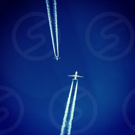 Mid air crossing  photo