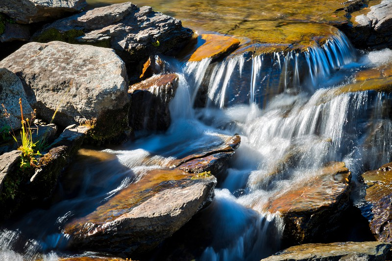 Rapids in Glacier National Park next to the Going to the Sun Road photo