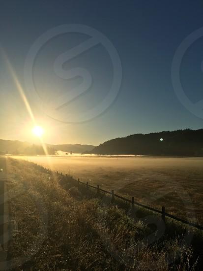 Sun rise peaceful morning  photo