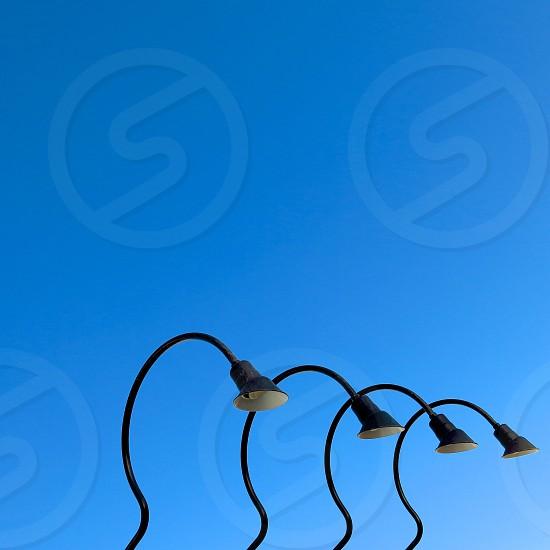 Curved lights above a Scottsdale AZ building. photo
