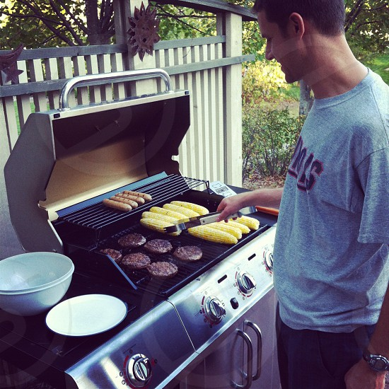 Grilling out in the summertime photo