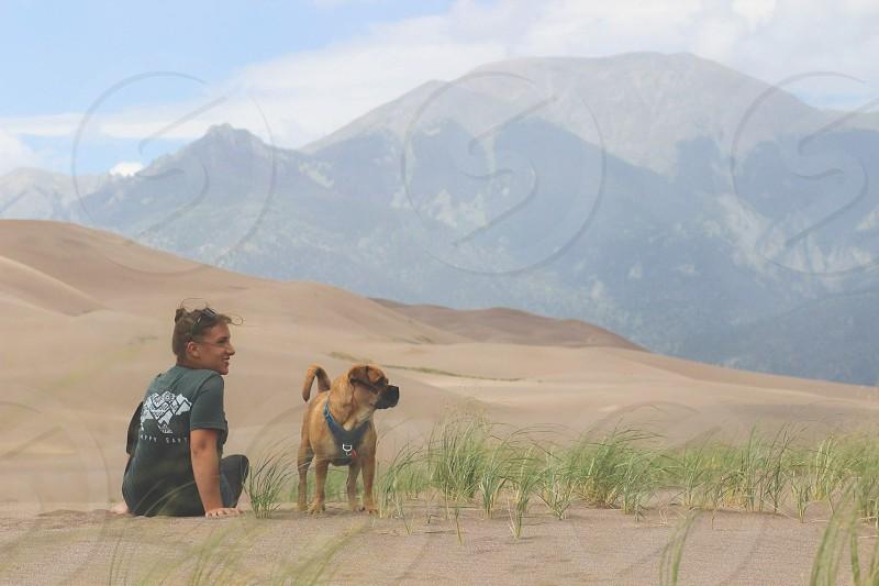 Great Sand Dunes National Park Colorado. photo