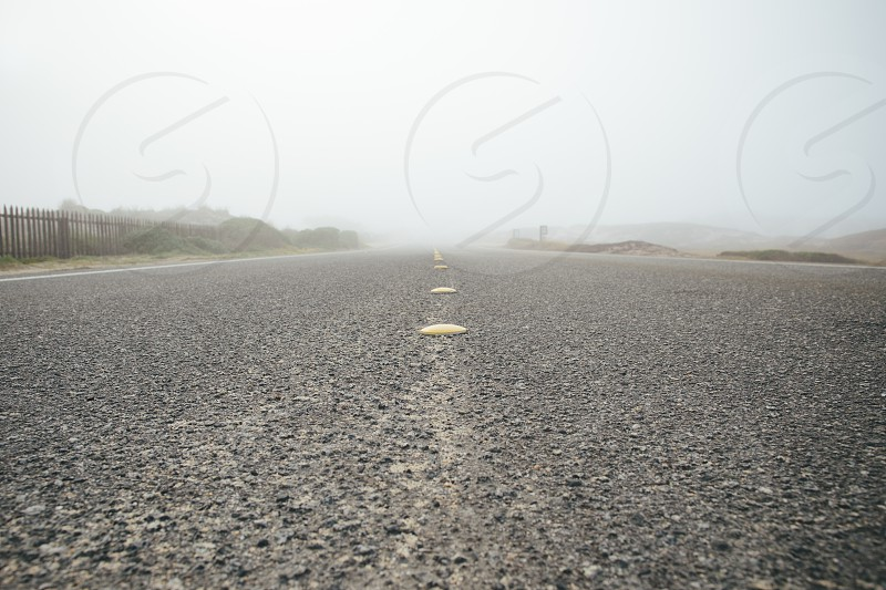 black gravel road  photo