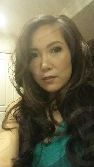 Long curly hair photo