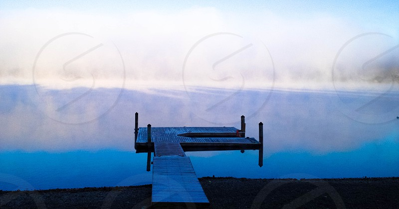 Dock in the fog photo