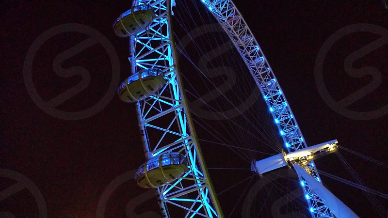 Blue wheel photo