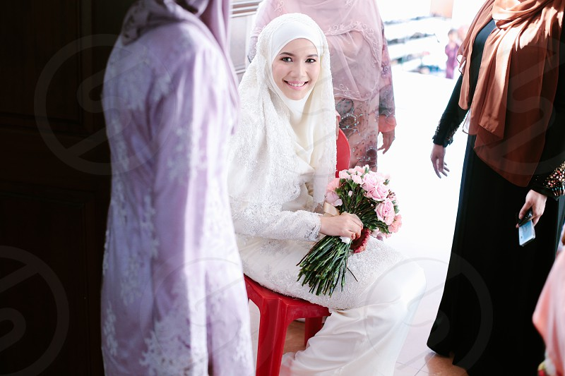 The smiling bride photo