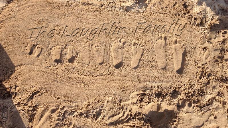 Sand Beach Footprints  photo