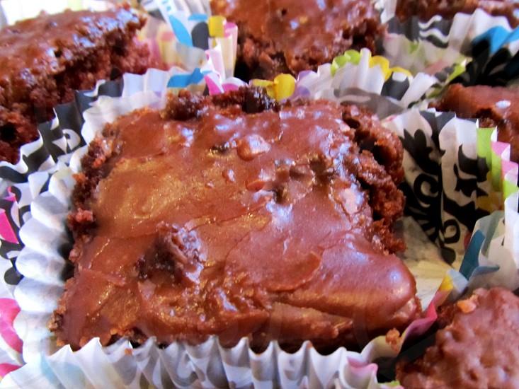 Scotch fudge cake in wrapper photo