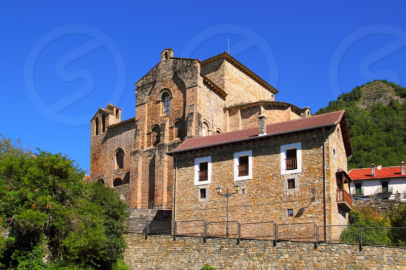 Siresa romanesque monastery in Huesca Aragon Spain photo