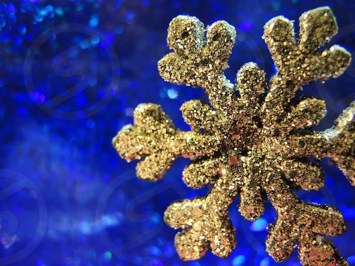 gold glitter snowflake photo